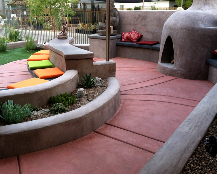 Tucson Decorative Concrete And Patios Kmac Landscaping