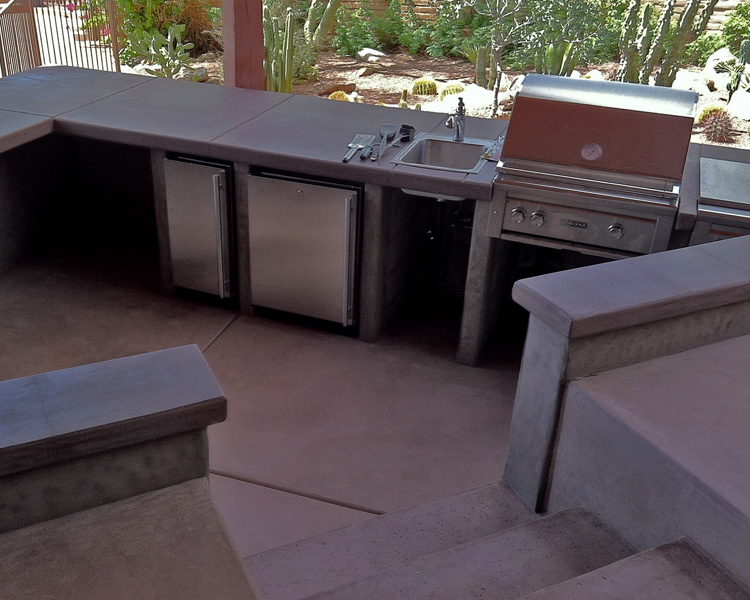 Stamped Concrete Kitchens : Landscaping tucson photo gallery kmac