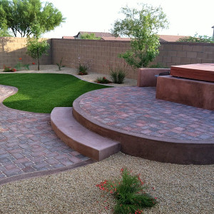 Backyard Pavers and Turf Oasis