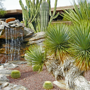 Tucson Landscaping with Rock Waterfall